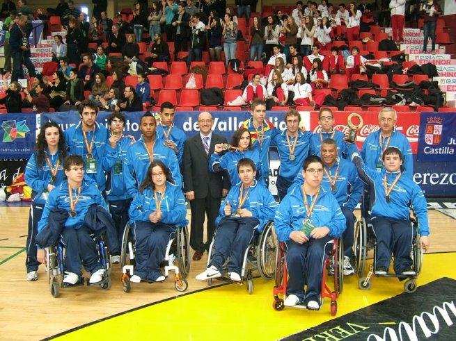 Selección de Aragón escolar de BSR con Alejandro Jordán (cuarto por la izquierda de la primera fila)