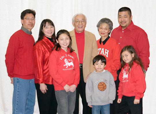 La familia Misaka al completo