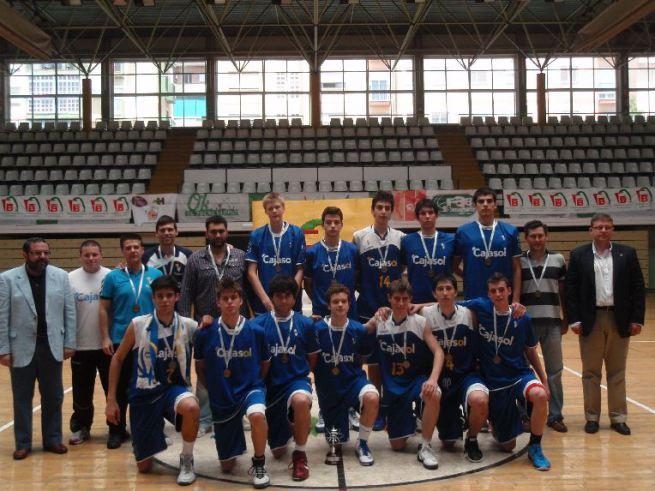 Porzingis, con el Cajasol cadete, en la temporada 2010/11 en el Cº andaluz